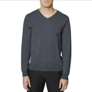 Hickey Freeman V-Neck Cotton Pullover Sweater